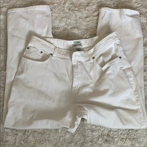L.L. Bean original fit / relaxed white jeans